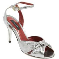 Marc Jacobs 银色蝴蝶结高跟鞋