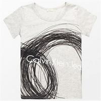 Calvin Klein 女士短袖圆领T恤