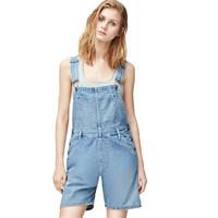 Calvin Klein 女士背带牛仔短裤