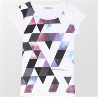 Calvin Klein 女士短袖印花T恤