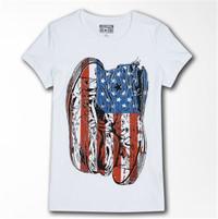 Converse 美国风帆布鞋印花短袖T恤