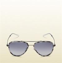 古驰Gucci 超轻醋酸纤维飞行员太阳眼镜