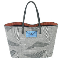 Marc Jacobs 女士条纹手提包