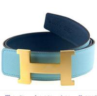 爱马仕(Hermès)宽版金色拉丝大H扣腰带