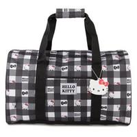 Hello Kitty 黑白印花图案水桶手提包
