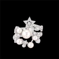 香奈儿Chanel 珍珠钻石白18K金戒指