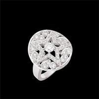 香奈儿Chanel COMèTE系列白18K金镶钻戒指