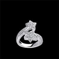 香奈儿Chanel COMèTE系列白18K金镶钻星星戒指
