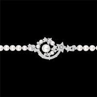 香奈儿Chanel 珍珠钻石白18K金手镯