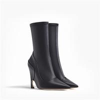 迪奥Dior GRIS FONCé色皮革短靴