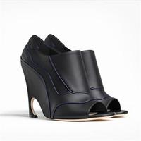 迪奥Dior 黑色和ENCRE色皮革短靴