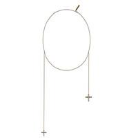纪梵希Givenchy 双十字架吊坠项链