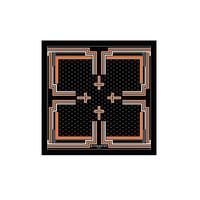 纪梵希Givenchy  斜纹织布橙色条纹围巾