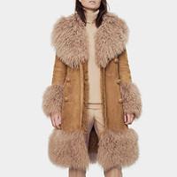 古驰Gucci 长毛羊毛系带大衣