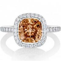 戴比尔斯 香槟钻石戒指