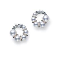 御木本 珍珠钻石耳环