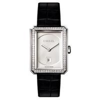 香奈儿Chanel 白18K金镶钻腕表