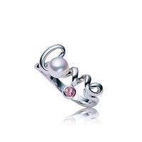 御木本 粉红宝石珍珠戒指