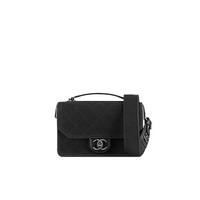 香奈儿Chanel 黑色小号面料口盖包