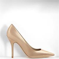迪奥Dior 米金色虹彩光泽小牛皮尖头高跟鞋