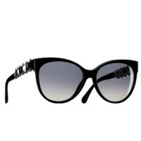 香奈儿Chanel 黑色蝴蝶形太阳眼镜
