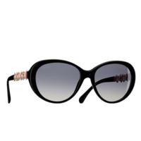 香奈儿Chanel 镶宝石珍珠母贝水钻太阳眼镜
