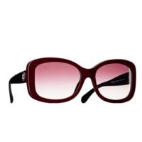 香奈儿Chanel 酒红色方形树脂太阳眼镜