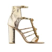 香奈儿Chanel 裂纹小羊漆皮凉鞋