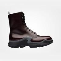 普拉达Prada 油蜡皮靴子