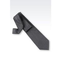 阿玛尼 灰色微图案真丝领带
