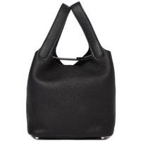 """爱马仕(Hermès)picotin黑色18""""皮质手提包"""