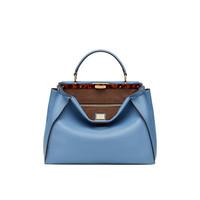 芬迪Fendi 蔚蓝色柔软小牛皮手提包