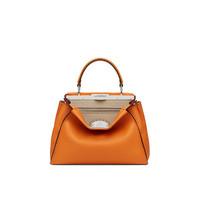芬迪Fendi 橙色罗马皮革手提包