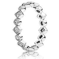 Pandora立方氧化锆银戒指