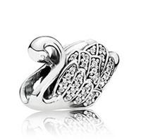 Pandora 天鹅造型镶钻串饰