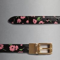 杜嘉班纳 花卉印花 DAUPHINE 小牛皮腰带