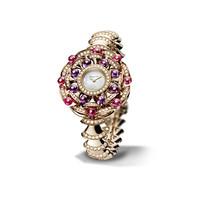 宝格丽Bvlgari 紫晶红碧玺18K玫瑰金腕表