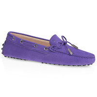 Tod's 女士哑光牛皮豆豆鞋