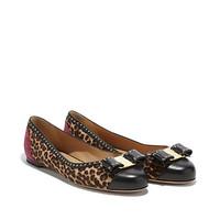 菲拉格慕 Varina 牛皮麂皮和小牛毛单鞋