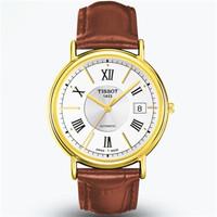 天梭 卡森系列18K黄色金表