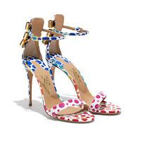 菲拉格慕 精致蝴蝶结彩色凉鞋