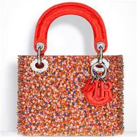 迪奥Dior 缎面亮片刺绣手提包