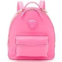 范思哲Versace 粉色美杜莎皮革背包