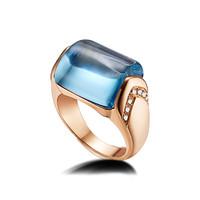 宝格丽Bvlgari MVSA托帕石钻石戒指