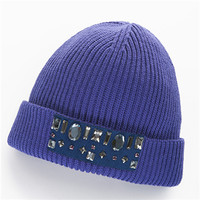 PORTS/宝姿 美丽诺羊毛针织帽