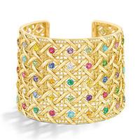 迪奥Dior 彩色黄金宝石手镯