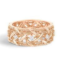 迪奥Dior 玫瑰金镶钻戒指