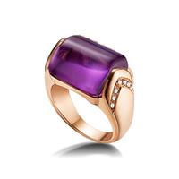 宝格丽Bvlgari MVSA紫水晶钻石戒指