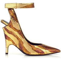 Tom Ford 女士不规则蛇纹高跟鞋