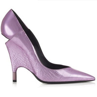 Tom Ford 女士金属鳄鱼纹高跟鞋